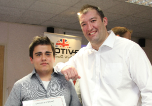 Llewellyn Nicholls (right) celebrating with Matt (right) his mentee